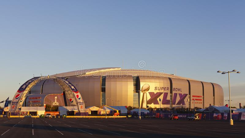 Guld- timme av Super Bowl i Phoenix, AZ royaltyfri fotografi