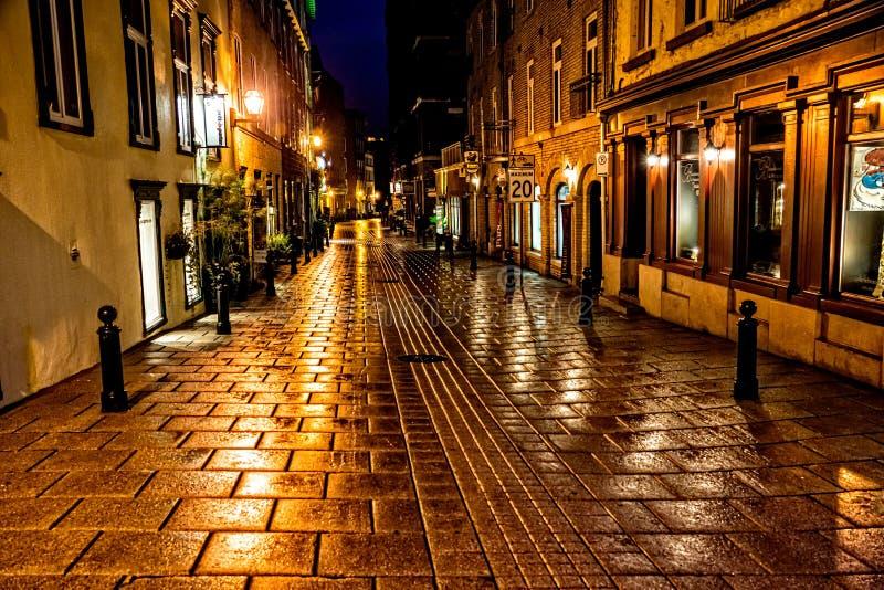 Guld- timme i Quebec City arkivfoto
