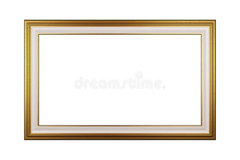 Guld- tom isolerad bildram royaltyfri illustrationer