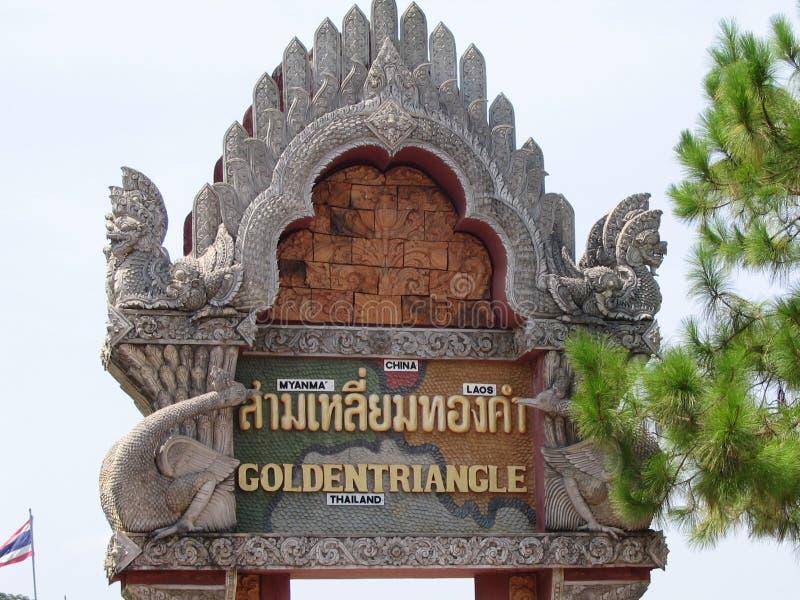 guld- triangel royaltyfria foton