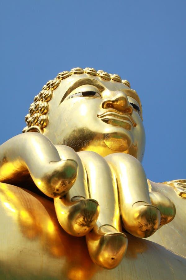 guld- triangel för buddha chiangrai arkivfoton