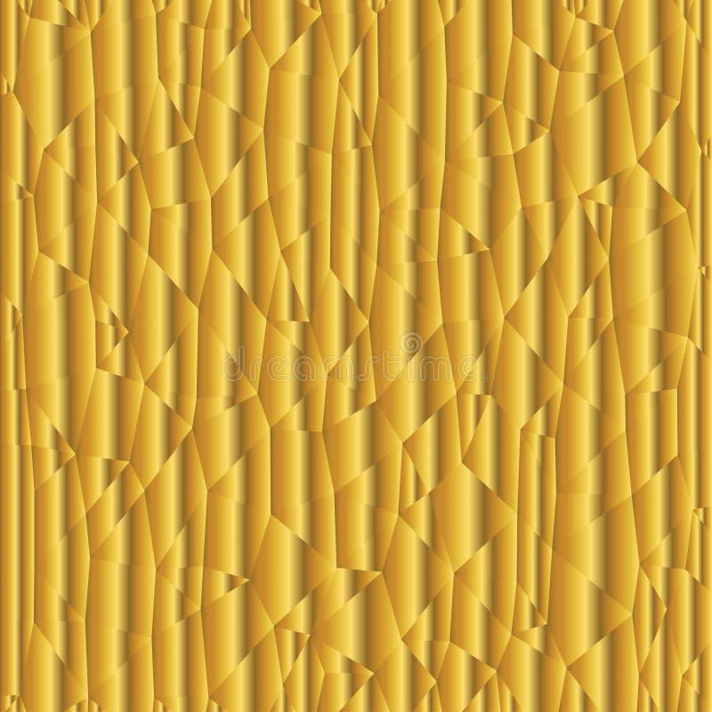 Guld- triangellutningbakgrund vektor illustrationer