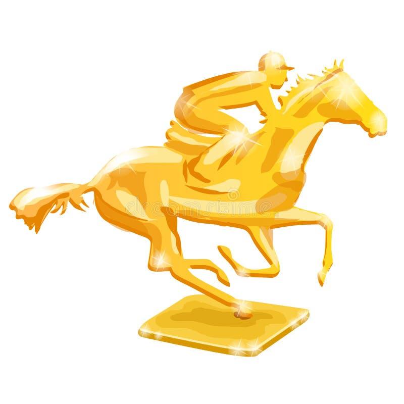 guld- trofé nordlig pyatigorsk tävlings- russia för caucasus hippodromehäst Vektorillustration som isoleras på vit bakgrund vektor illustrationer