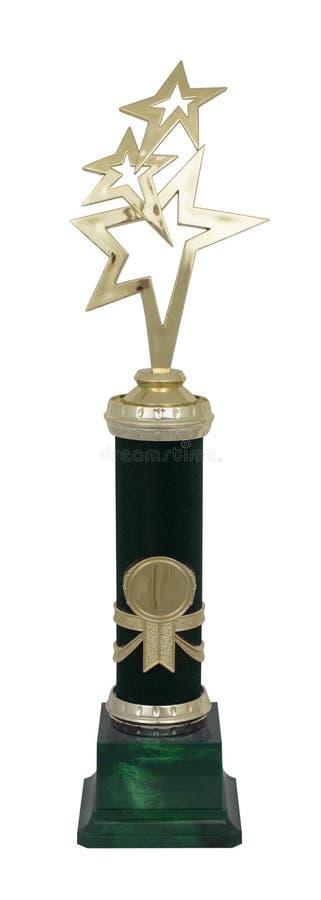 Guld- trofékopp royaltyfria foton