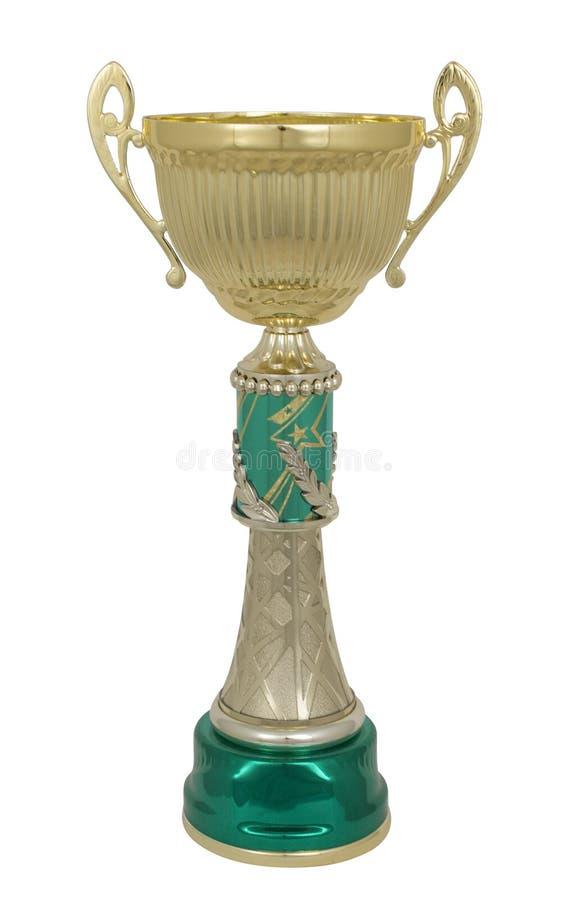 Guld- trofékopp royaltyfria bilder