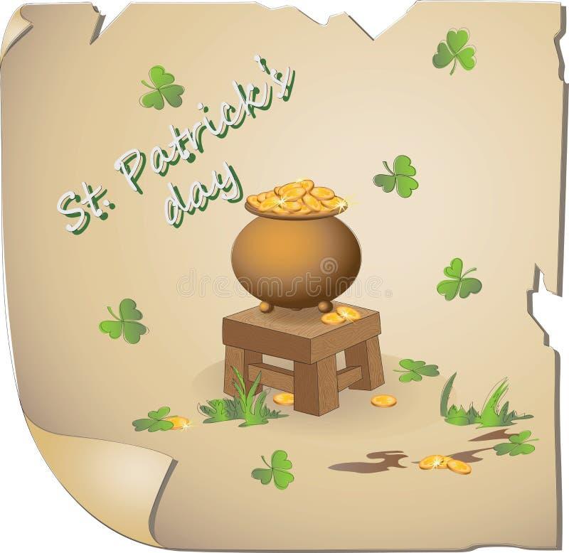 Guld- troll Dag för St Patrick ` s vektor illustrationer
