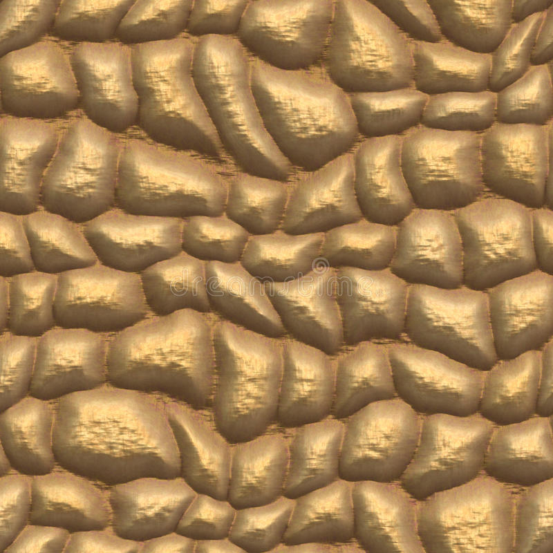 Guld- trottoar stock illustrationer