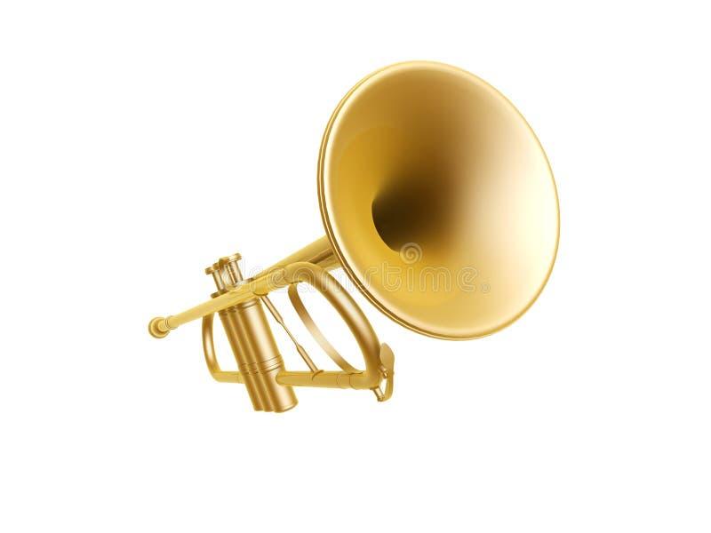 Guld- trumpet vektor illustrationer