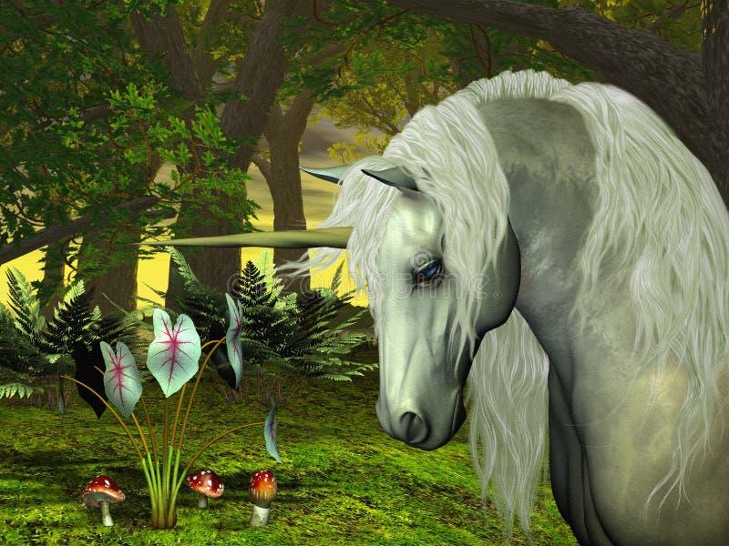 guld- unicorn vektor illustrationer