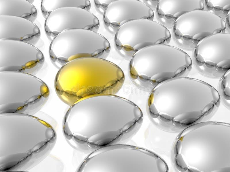 Guld- Unikt För ägg Arkivbilder