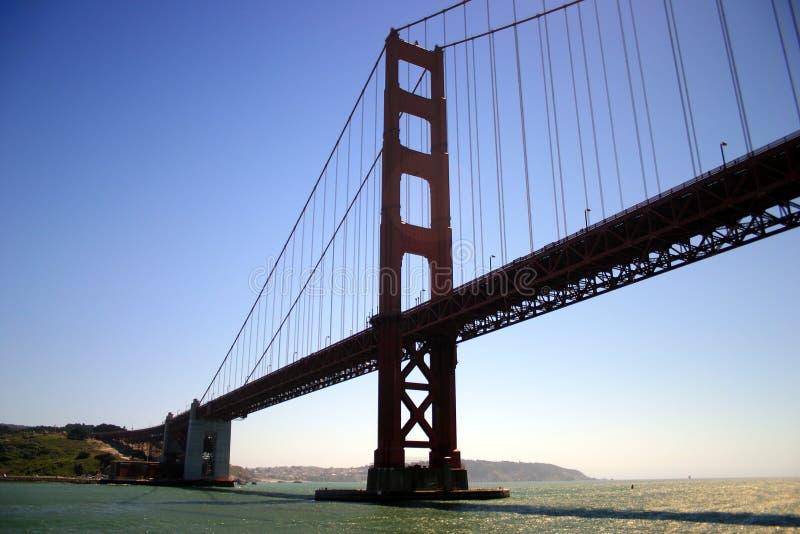 Guld- utfärda utegångsförbud för överbryggar, San Francisco royaltyfria foton