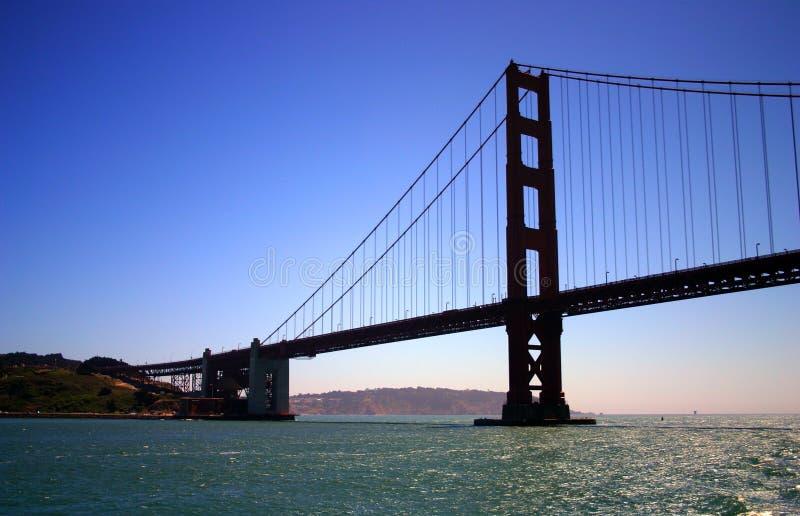 Guld- utfärda utegångsförbud för överbryggar, San Francisco arkivbilder
