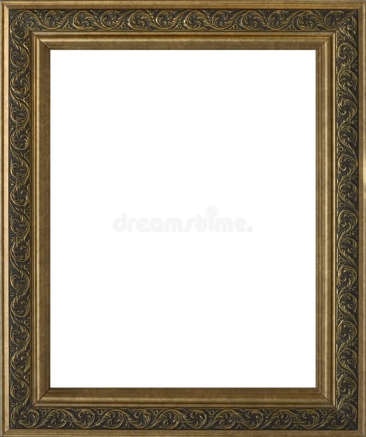 guld- utsmyckat för tom ram arkivbild