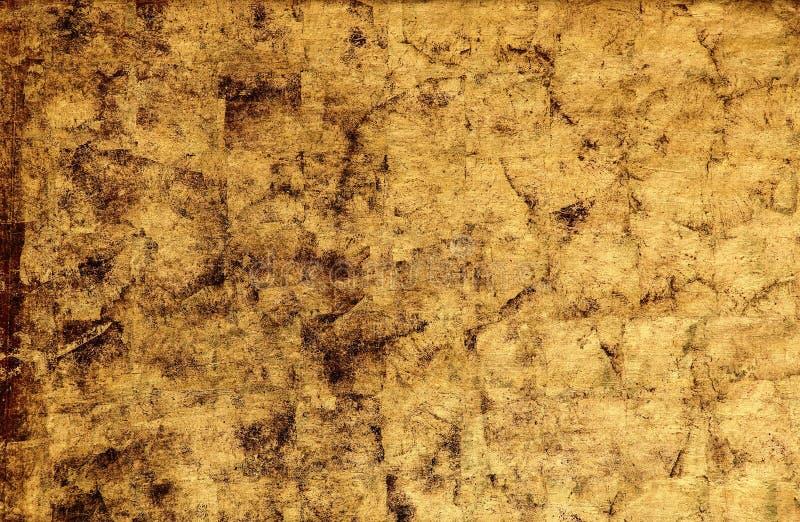 Guld- väggtexturbakgrund arkivfoto