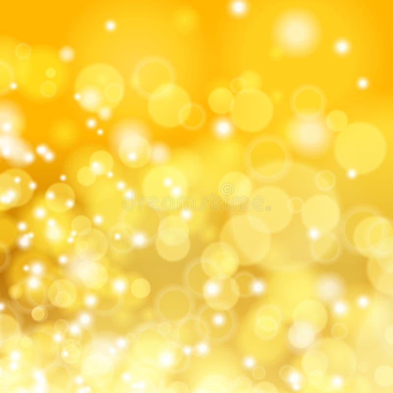 Guld- vår eller sommarbakgrund. stock illustrationer
