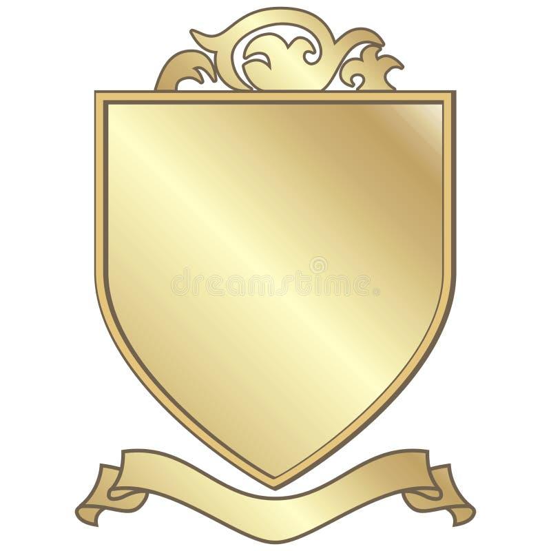 guld- vapen royaltyfri illustrationer