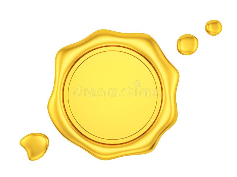 guld- vaxskyddsremsa vektor illustrationer