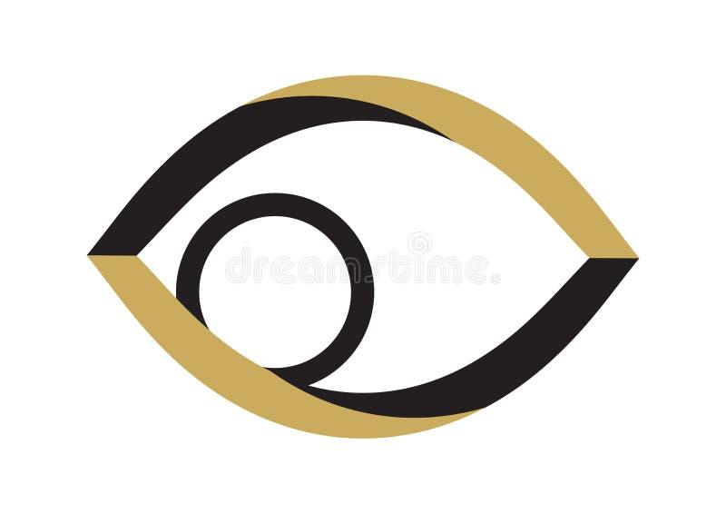 guld- vektor för öga vektor illustrationer