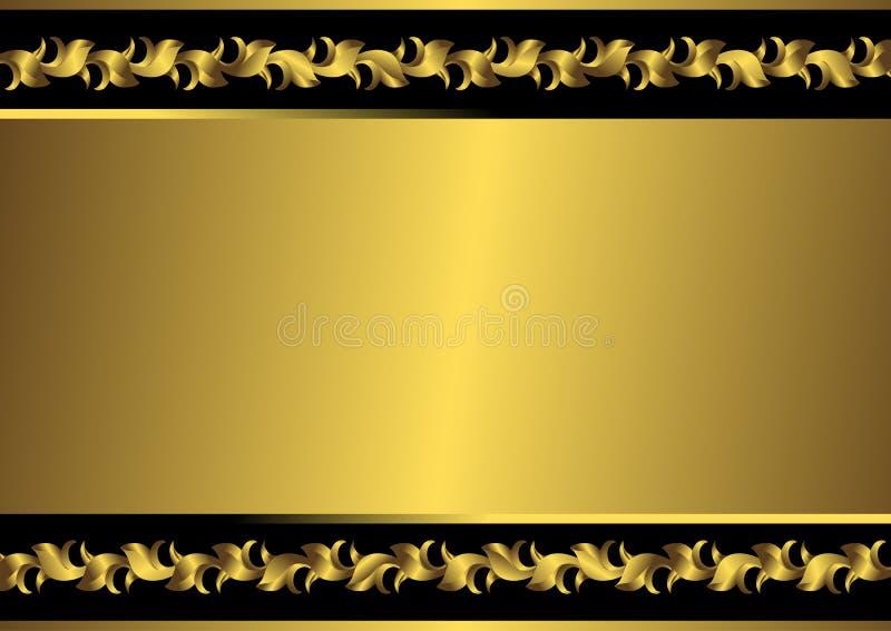guld- vektortappning för svart ram vektor illustrationer
