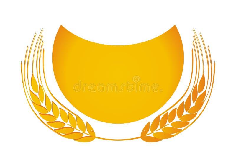 guld- vete royaltyfri illustrationer