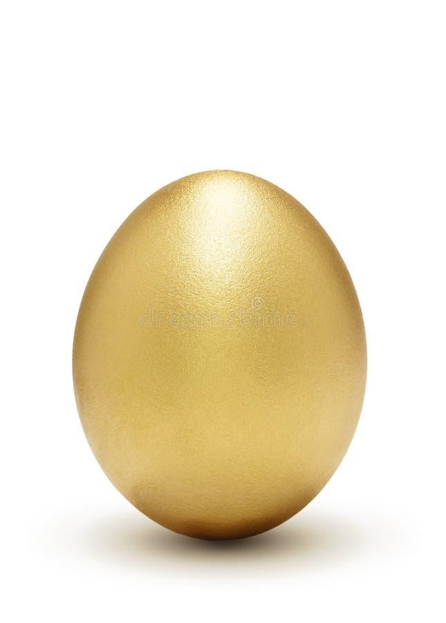 Guld- Vinstsymbol För ägg Arkivfoto