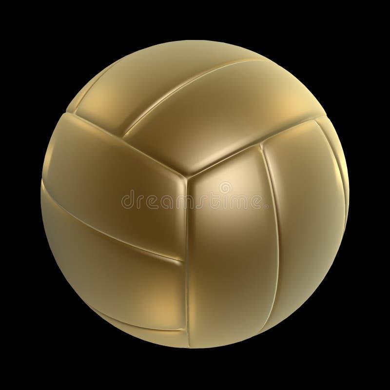 guld- volleyboll stock illustrationer