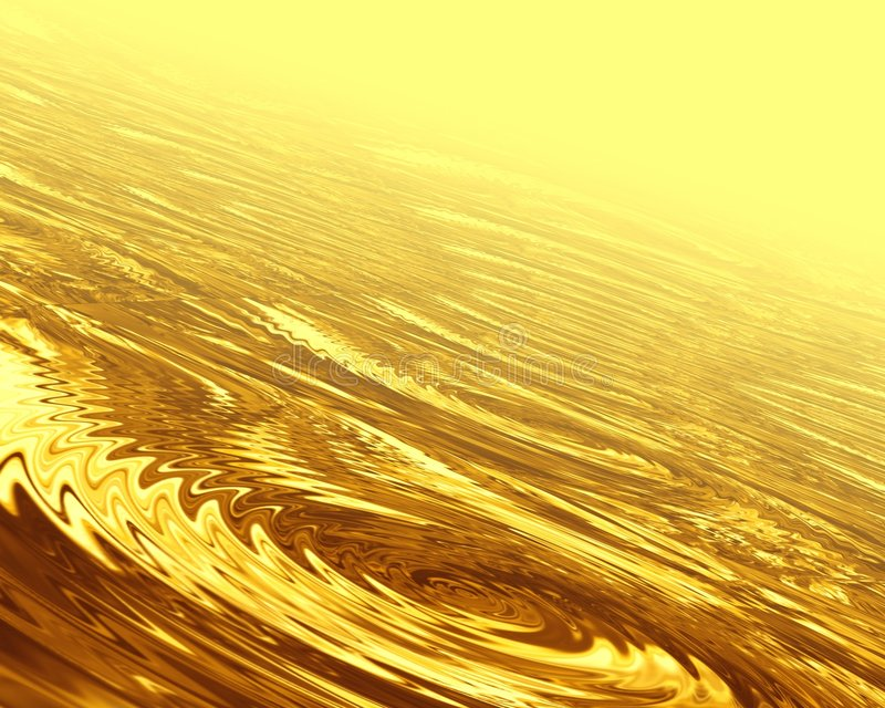 guld- waves royaltyfri illustrationer