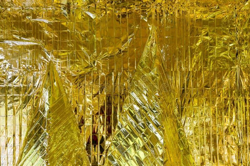 Guld- yttersidareflexioner royaltyfria foton
