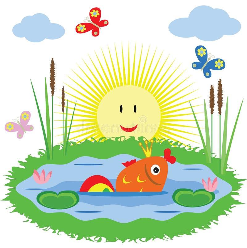 guldfisk stock illustrationer