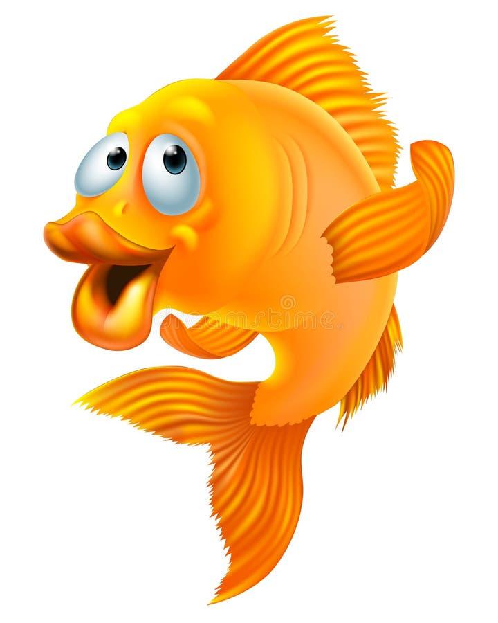 Guldfisktecknad film royaltyfri illustrationer