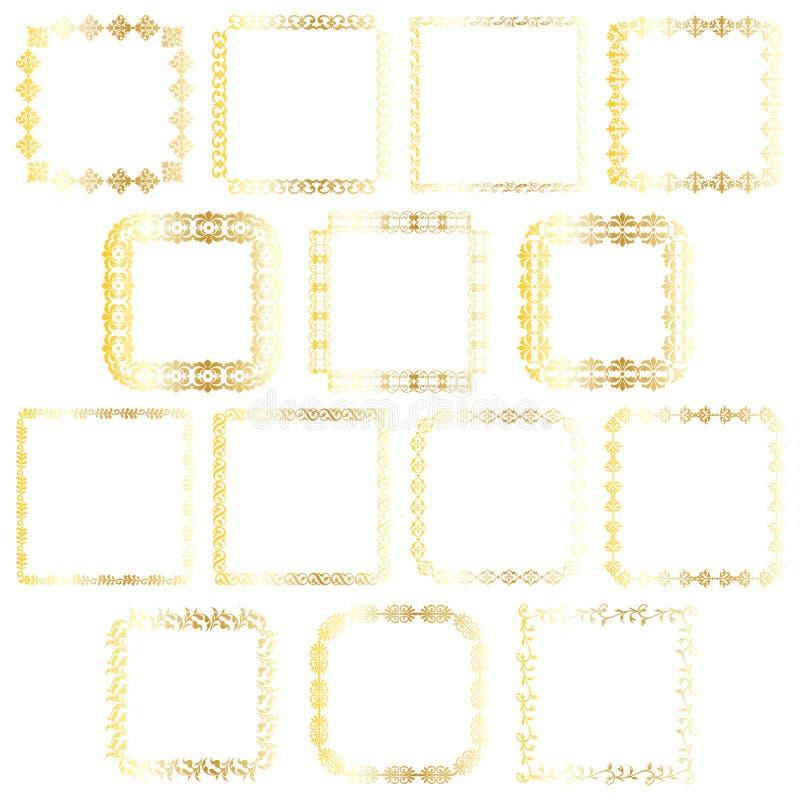 Guldfyrkantramar royaltyfri illustrationer