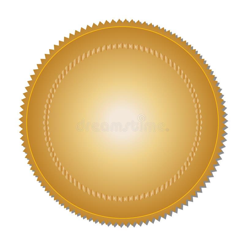 Guldmedalj (vektor) vektor illustrationer