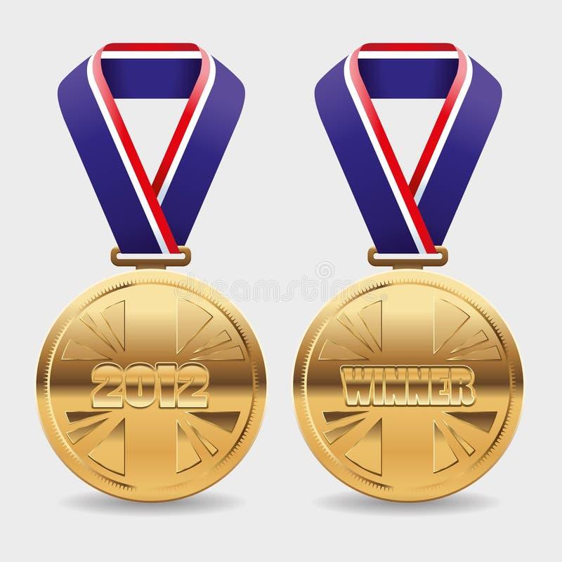 guldmedaljer royaltyfri illustrationer