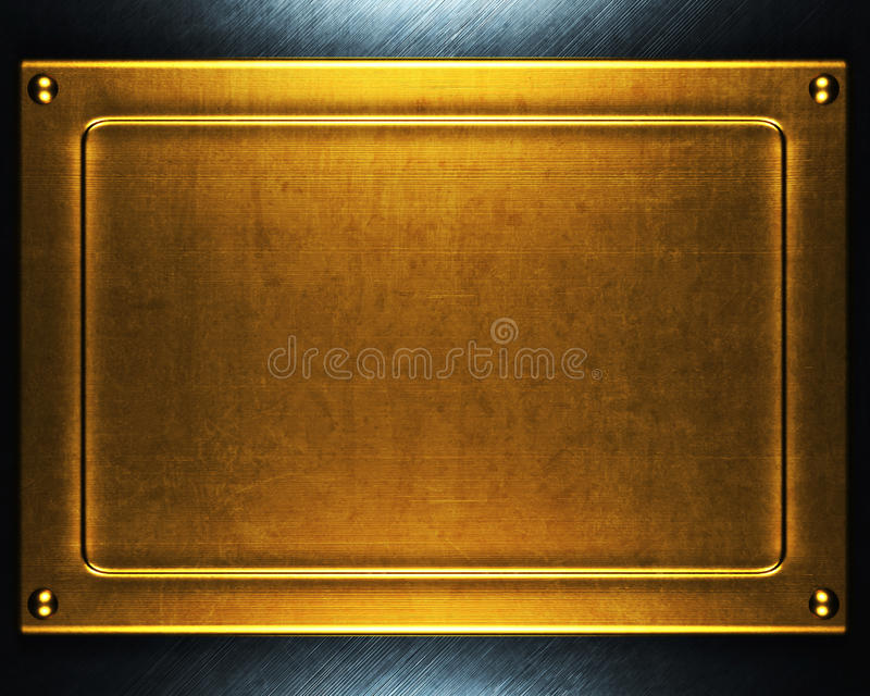 guldmetallplatta royaltyfria foton