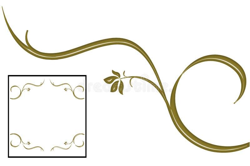 GULDMURGRÖNAEN ÄR RAMEN, DESIGNFÖRÄLSKELSE vektor illustrationer