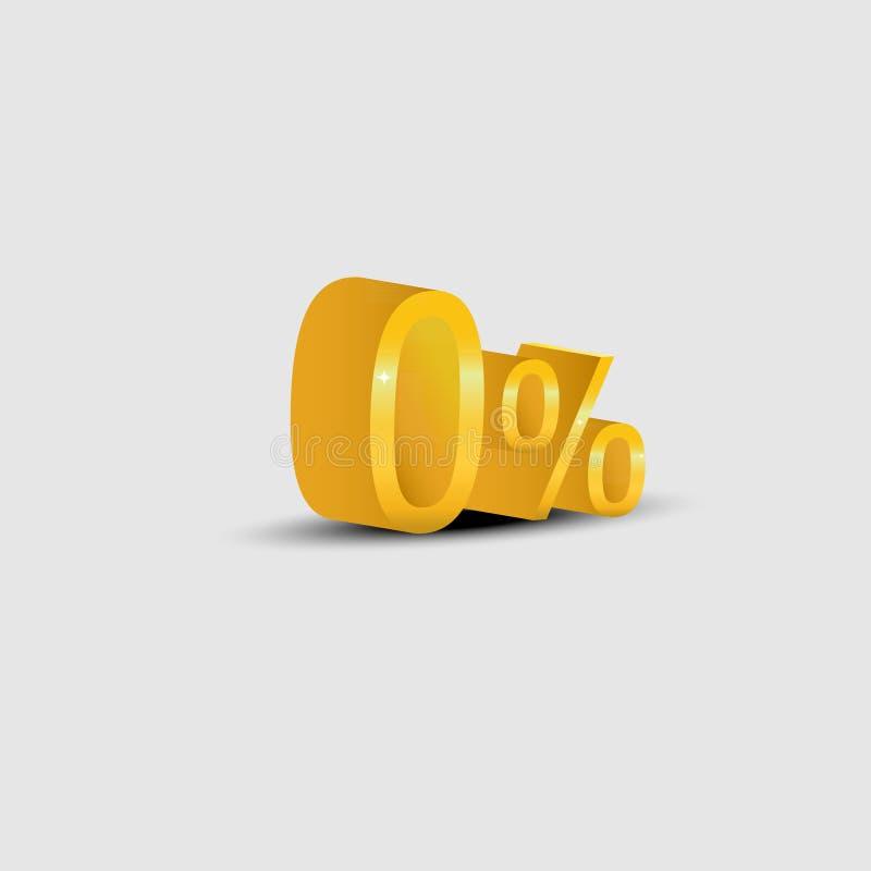 Guldnollprocent vektor illustrationer