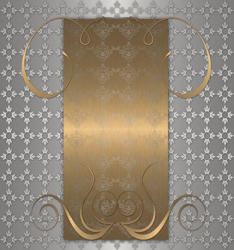 guldplatinatappning royaltyfri illustrationer