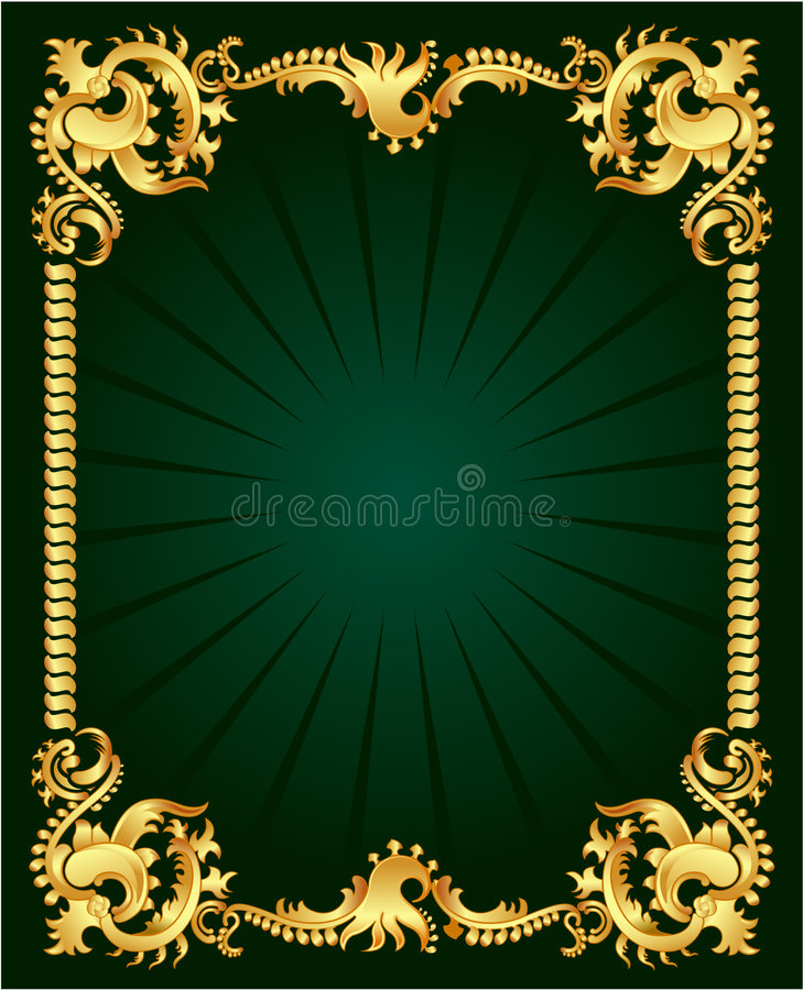 guldprydnad royaltyfri illustrationer