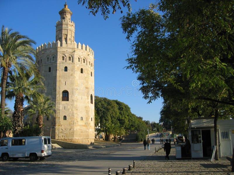 guldseville sydligt spain torn arkivbild