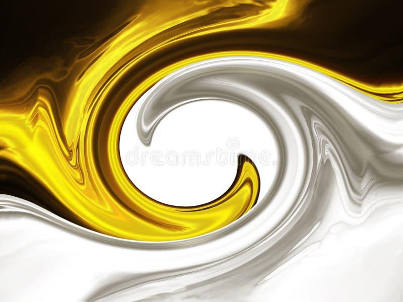 guldsilver stock illustrationer
