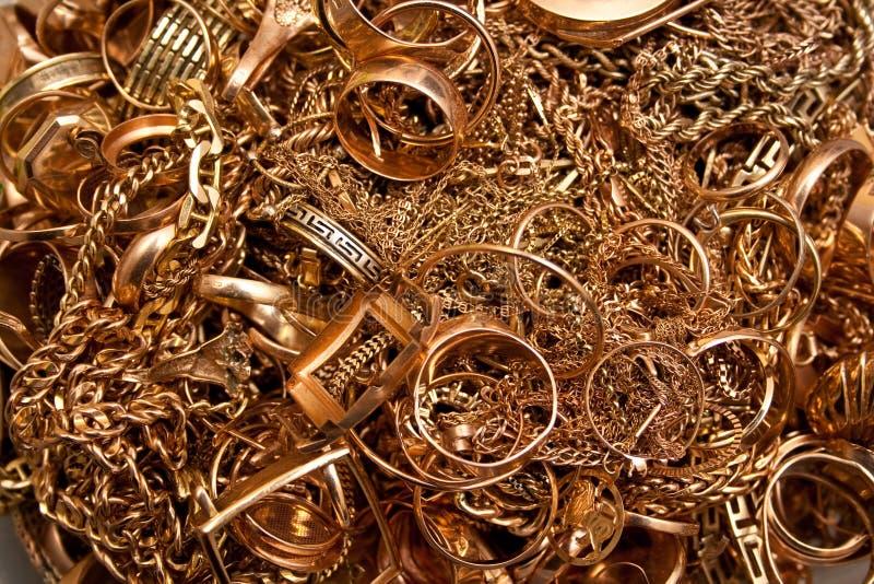 guldsmycken arkivfoton