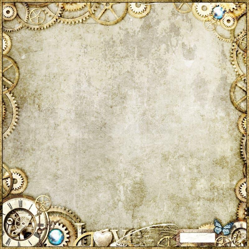 guldsteampunk royaltyfria bilder