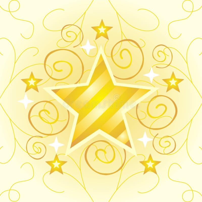 guldstjärna stock illustrationer