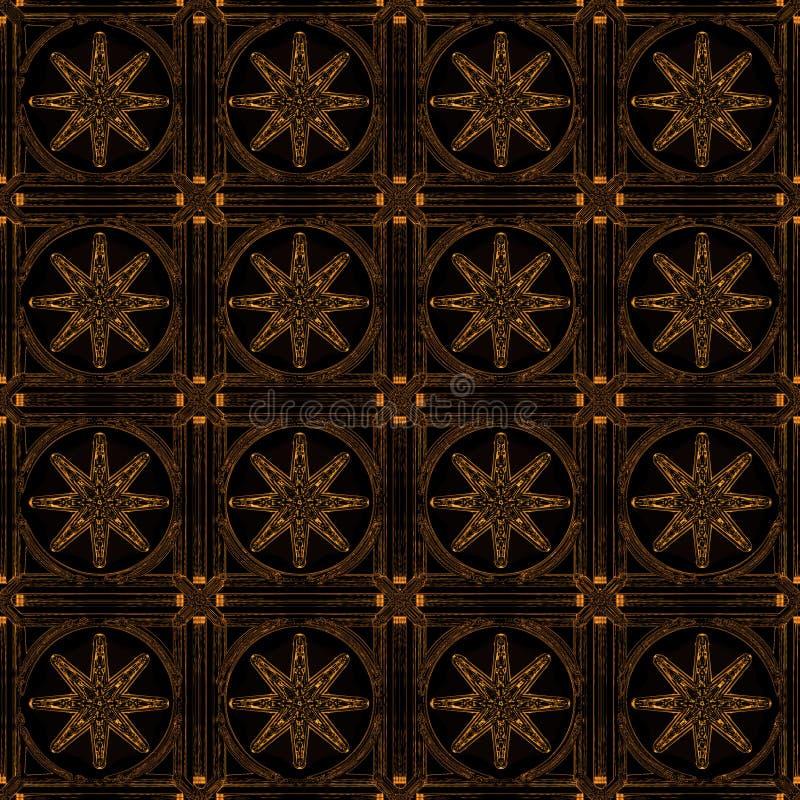 guldstjärnor royaltyfri illustrationer