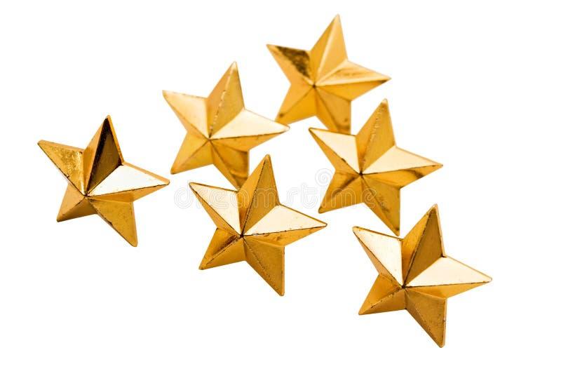 guldstjärnor royaltyfri bild