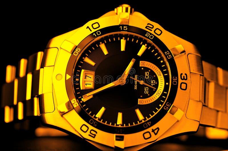guldwatch royaltyfri fotografi