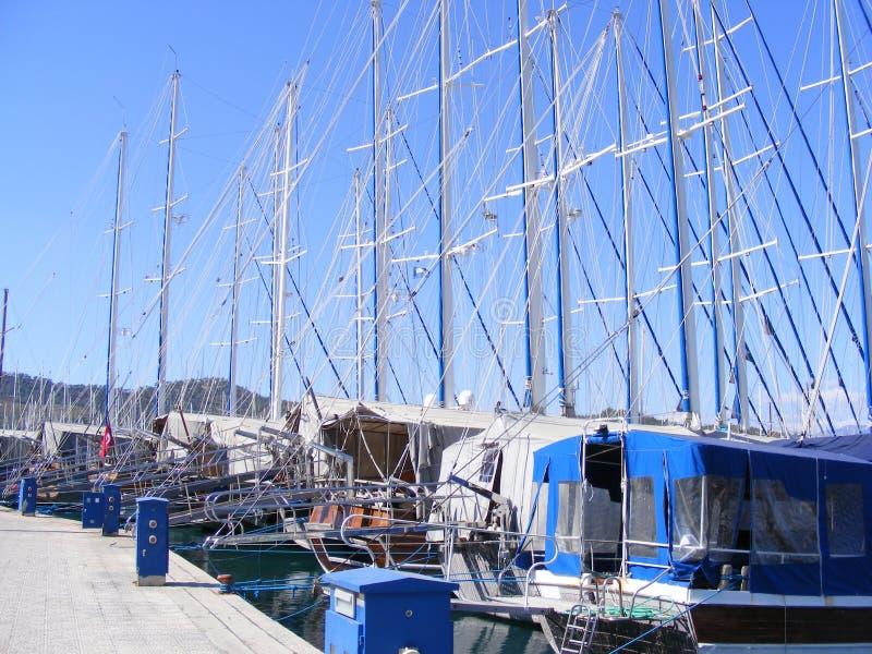 Gulets no porto de Fethiye imagem de stock