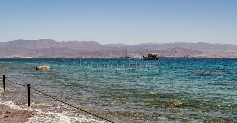 Gulf of Aqaba, Red Sea, Israel stock images