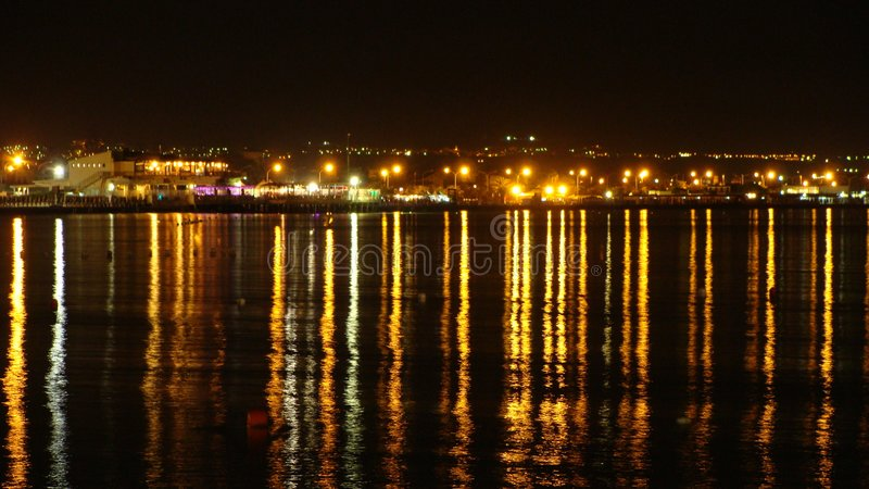 Gulf of Cagliari. By night - Sardinia, Italy royalty free stock photos