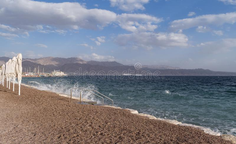 Gulf of Eilat Akaba on the Red Sea royalty free stock images